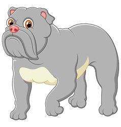 Cartoon guard dog house vector image