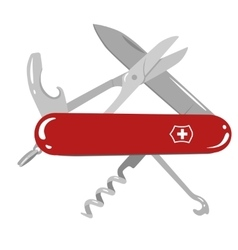 Swiss army knife vector