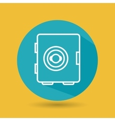 Symbol of safe box blue isolated icon design vector