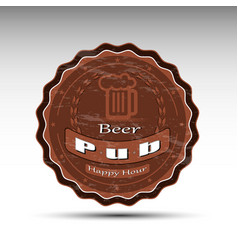 A design of beer mat vector