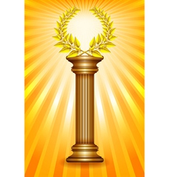 Award column vector image