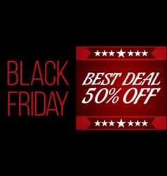black friday shopping sale concept vector image