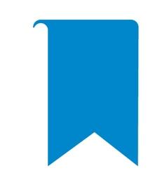 Bookmark icon logo vector