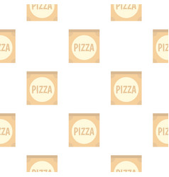 Cardboard box with pizza pattern flat vector