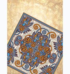 Carpet ornamental design on grunge background vector