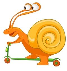 Cartoon character snail vector