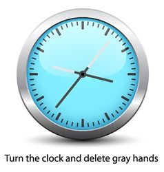 Clock face - easy change time vector