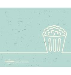 Creative popcorn Art template vector image