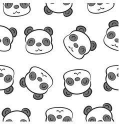 Cute head animal cartoon doodles vector