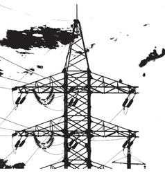 Electric tower closeup vector