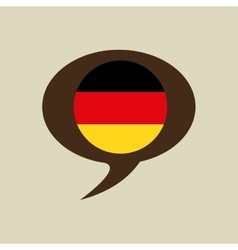 Globe sphere flag germany country button graphic vector
