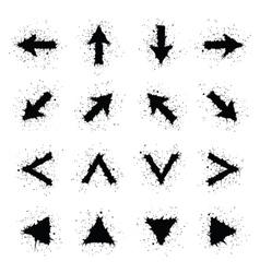 Grunge arrows vector