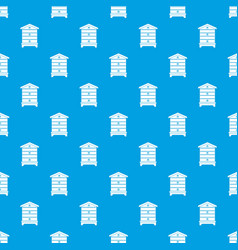 Hive pattern seamless blue vector