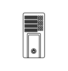 isolated pc tower vector image vector image