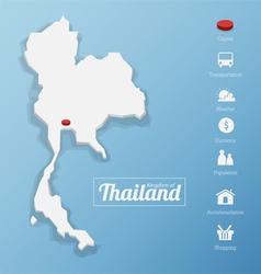 Kingdom of Thailand map vector image vector image