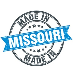 Made in missouri blue round vintage stamp vector