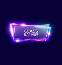 night club neon sign with transparent glass plate vector image vector image