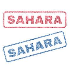 Sahara textile stamps vector