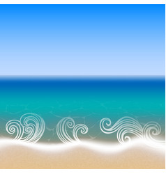 seaside view background vector image
