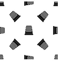 Thimble pattern seamless black vector