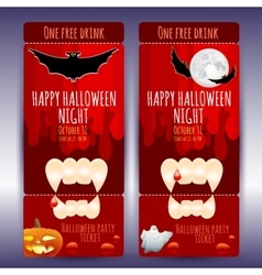 ticket on a Halloween party vector image
