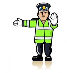 traffic officer vector image vector image
