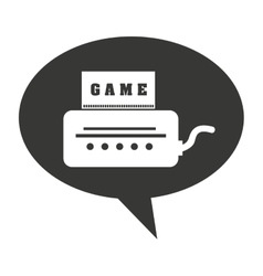 video game console isolated icon vector image