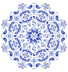 white and blue plate vector image vector image
