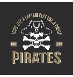 Logo Of Pirates Print vector image