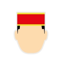 Bellboy male hat hotel service icon vector