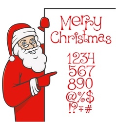 santa claus with christmas alphabet 04 vector image