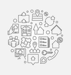 Real estate business concept vector