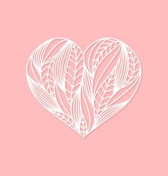 Lasercut white heart composition vector