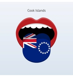 Cook islands language abstract human tongue vector