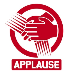 Applause sign vector