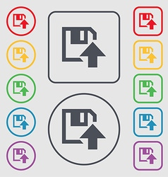 Floppy icon flat modern design symbols on the vector