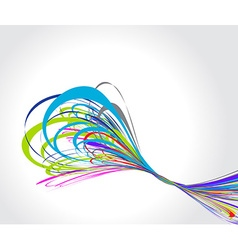 Rainbow wave line vector