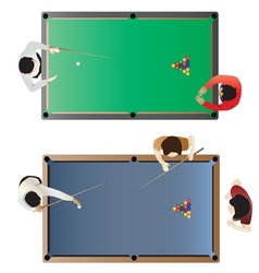 Billiard table top view for interior vector