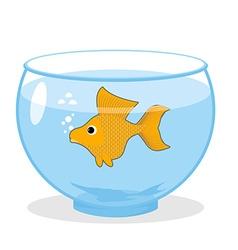 Goldfish in an aquarium Symbol of fulfillment of vector image