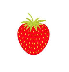 Strawberry icon isolated white background flat vector