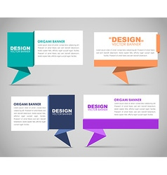 Design banners in origami style vector