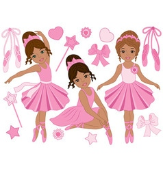 Ballerinas set vector