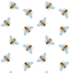 bee seamless pattern for textile design wallpaper vector image vector image