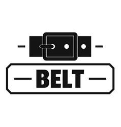 Belt fashion logo simple black style vector