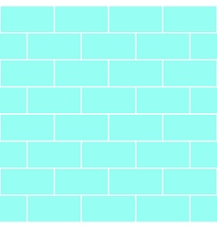 Blue mint brick wall vector