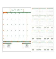 Calendar planner 2016 design template set of 12 vector