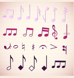 Colorful music icon set vector