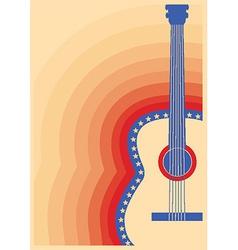 Concert guitar poster music festival vector