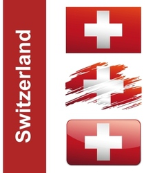Flag Of Switzerlandin vector image vector image