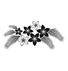 frangipani border vector image vector image